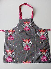 Detské oblečenie - Zásterka detská obojstranná víla - 10340883_