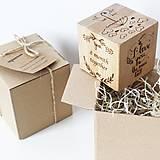 Krabičky - Drevená kocka s vašimi najkrajšími spomienkami  - 10343677_
