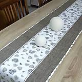 Úžitkový textil - MIŠO - stredový obrus  (90 cm x 40 cm) - 10339956_