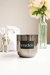 Svietidlá a sviečky - Čierny nikel - veľká - 10341524_