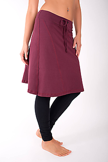 Sukne - PLACE DU CARROUSEL... burgundy skirt - 10343143_