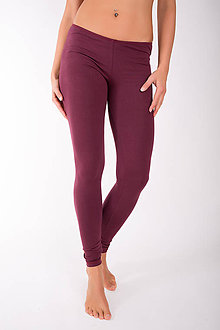 Nohavice - LONG LEG... burgundy - 10343255_