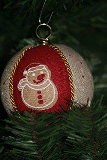 """Dekorácie - Vianočné gule  """"Perníčky"""" červené - 10340471_"""