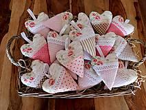 Dekorácie - Sweet Home..., levanduľové srdiečka 12,5 cm - 10340456_
