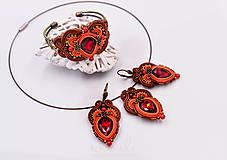 Sady šperkov - Sada Scent of India - náušnice, náramok a prívesok - 10340203_