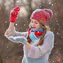 Čiapky - Origo set čiapka, rukavice , nákrčník - 10340034_