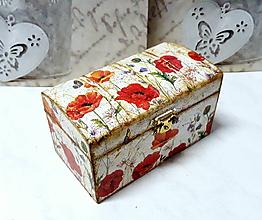 Krabičky - šperkovnica lúčne kvety - 10342550_