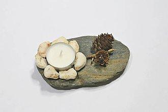 Svietidlá a sviečky - Kamenný svietnik - 10342147_
