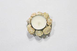 Svietidlá a sviečky - Kamenný svietnik - 10342258_