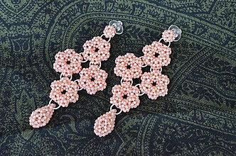 Náušnice - Náušnice - marhuľový kvet - 10340232_