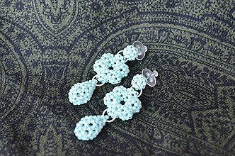Náušnice - Náušnice - kvet so slzou - 10340278_