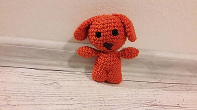 Hračky - mini drobčeky farebnééé 5 x inak (oranžový psík) - 10341992_