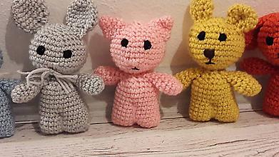 Hračky - mini drobčeky farebnééé 5 x inak (ružová mačička) - 10341998_