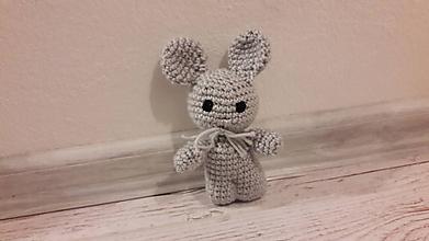 Hračky - mini drobčeky farebnééé 5 x inak (siva myška) - 10342006_