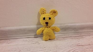 Hračky - mini drobčeky farebnééé 5 x inak (žltá macík) - 10342021_