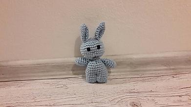 Hračky - mini drobčeky farebnééé 5 x inak (modrý zajko) - 10342031_