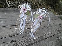 Dekorácie - Oblečko na svadobné poháre - Pivonka - 10347893_