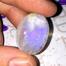 Minerály - Mesačný kameň kabošon ovál (25x20x7,5 mm, 30,85 Ct, M102) - 10344854_