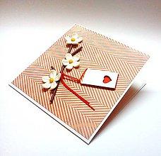 Papiernictvo - Pohľadnica ... Zaľúbená halúzka - 10347038_