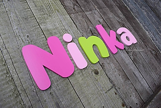 Detské doplnky - 15cm písmenká NINKA - 10344454_