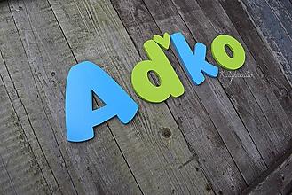 Detské doplnky - 15cm písmenká AĎKO - 10344475_
