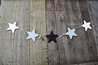 Detské doplnky - hviezdičkova girlanda - 10345349_