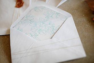Papiernictvo - Obálky na fotografie 10x15cm alebo na peniaze (kvet) - 10347670_