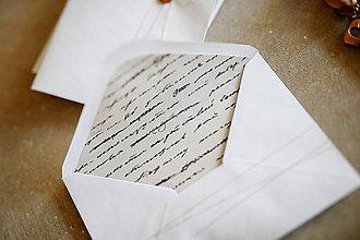 Papiernictvo - Obálky na fotografie 10x15cm alebo na peniaze (písmo) - 10347676_