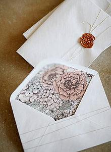 Papiernictvo - Obálky na fotografie 10x15cm alebo na peniaze (záhrada) - 10347678_