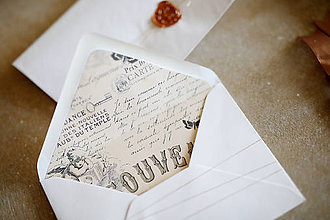 Papiernictvo - Obálky na fotografie 10x15cm alebo na peniaze (vintage) - 10347685_