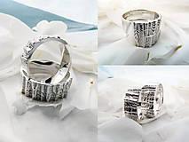 Prstene - Strieborné odlievané obrúčky - Šumenie sŕdc - 10347494_