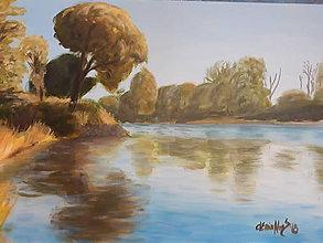 Obrazy - Na brehu Moravy - 10345768_