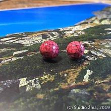 Náušnice - Ružové drievka - 10345796_