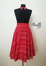 Sukne - YWETTE: trošku menšie čičmany na mojej sukničke ♥ (Červená) - 10344191_