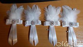 Pierka - svadobné pierko pre ženícha - 10346441_