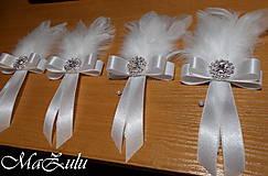 Pierka - svadobné pierko pre ženícha - 10346443_