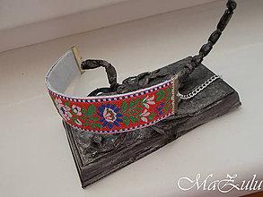 Náramky - Folklórny náramok / 25 mm / - 10344614_