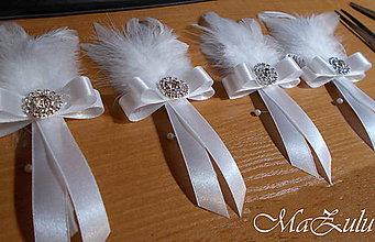 Pierka - svadobné pierko pre ženícha - 10346442_