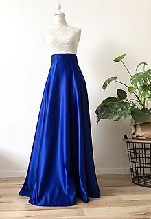 Sukne - Saténová sukňa kruhová - 10345204_