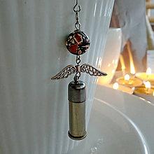 Drobnosti - Anjelik strieborný mramorovaný - 10348080_