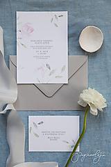 Papiernictvo - Svadobné oznámenie Ophelia - 10344231_