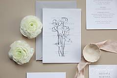 Papiernictvo - Svadobné oznámenie Semitransparent II - 10344372_