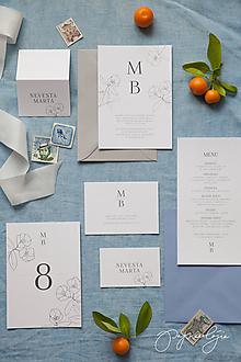 Papiernictvo - svadobné oznámenie Eucryphia - 10344098_