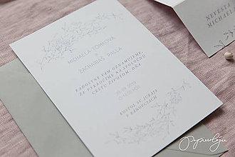 Papiernictvo - Svadobné oznámenie Slávik - 10344164_