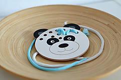 Hračky - Drevený medvedík - prevliekacia hračka - 10347016_