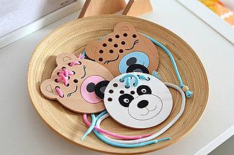 Hračky - Drevený medvedík - prevliekacia hračka - 10347012_