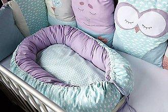 Textil - Hniezdo pre bábätko Nr.626 Mentolové - 10346974_