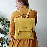 Batohy - Kožený batoh Ruby (žltý) - 10346041_