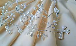 Ozdoby do vlasov - Girlanda z perličiek - 10345916_