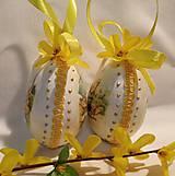 Dekorácie - Sada veľkonočných kraslíc s kuriatkami - v žltom - 10345807_